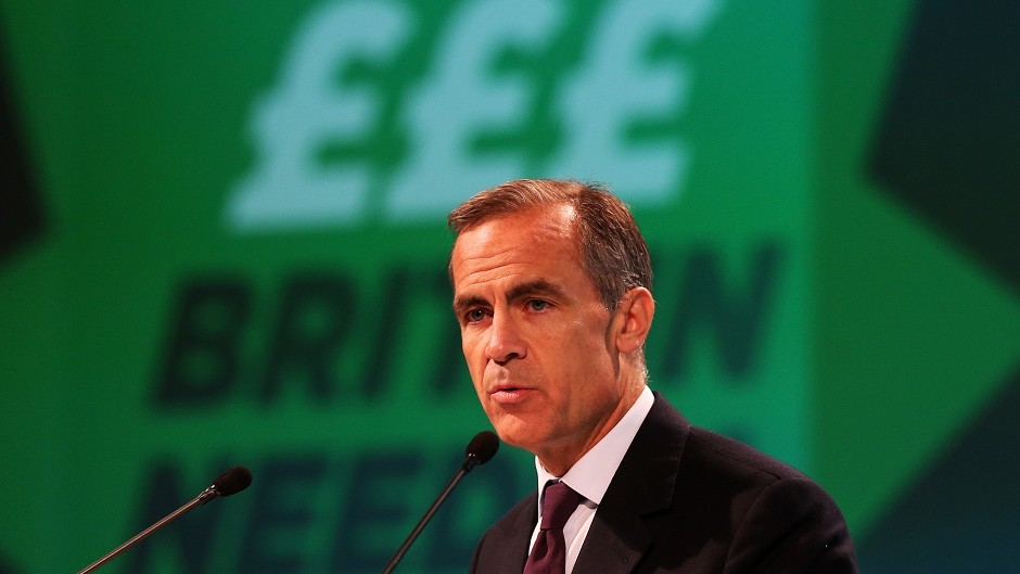 Bank of England governor Mark Carney addressing the TUC Congress