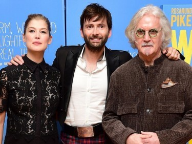 Rosamund Pike, David Tennant and Billy Connolly at the premiere of What We Did On Our Holiday