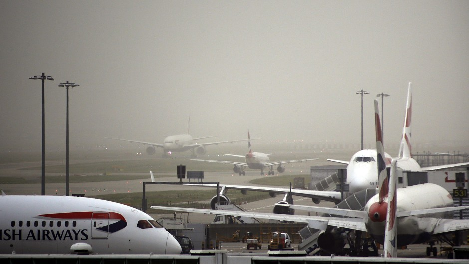 Flights diverted due to heavy fog