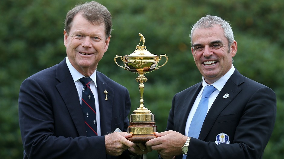 Paul McGinley, right, and Tom Watson, left, are ready for action at the Ryder Cup
