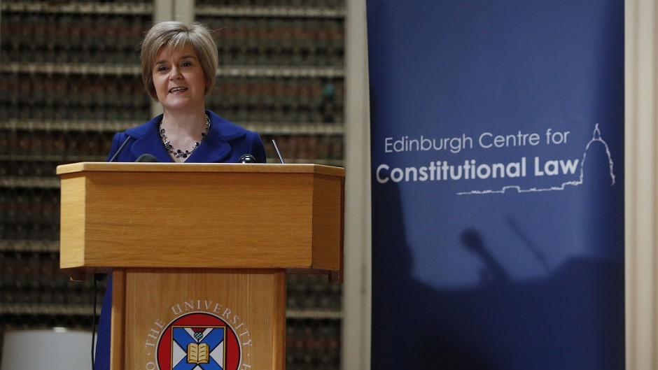 Nicola Sturgeon said she is confident that voters in Scotland will opt to leave the UK in the forthcoming referendum