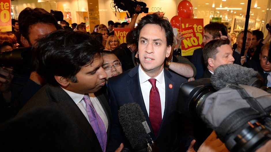 Ed Miliband in Edinburgh on the campaign trail for the Scottish independence referendum