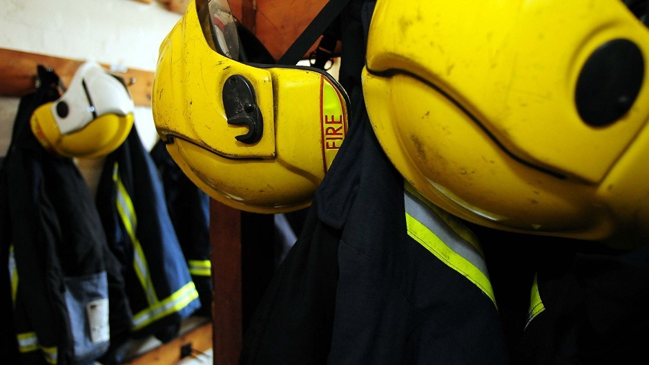 Firefighters were called to tackle a caravan fire in Oldmeldrum