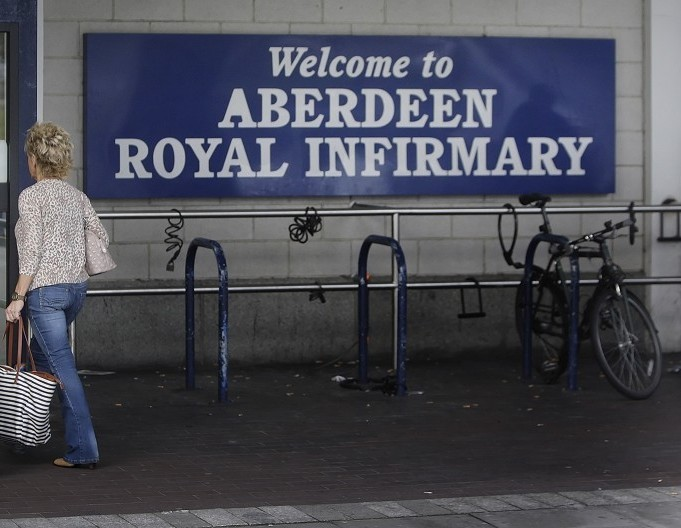 The woman has been taken to Aberdeen Royal Infirmary