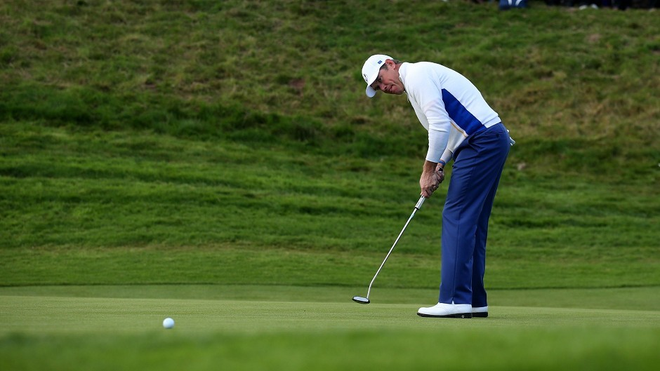 Lee Westwood claimed his 23rd point in the Ryder Cup today, just two short of the record held by Sir Nick Faldo
