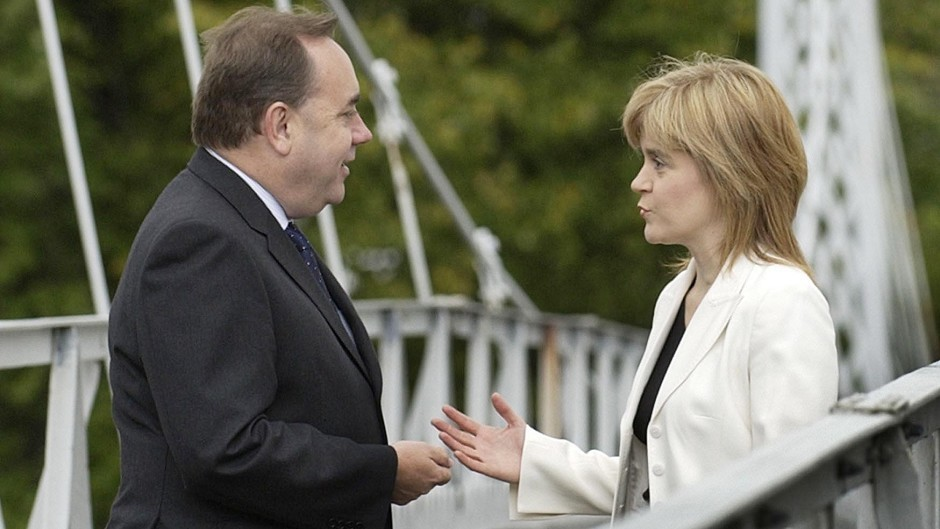 Alex Salmond and Nicola Sturgeon ran a joint ticket to secure the leadership of the SNP in 2004