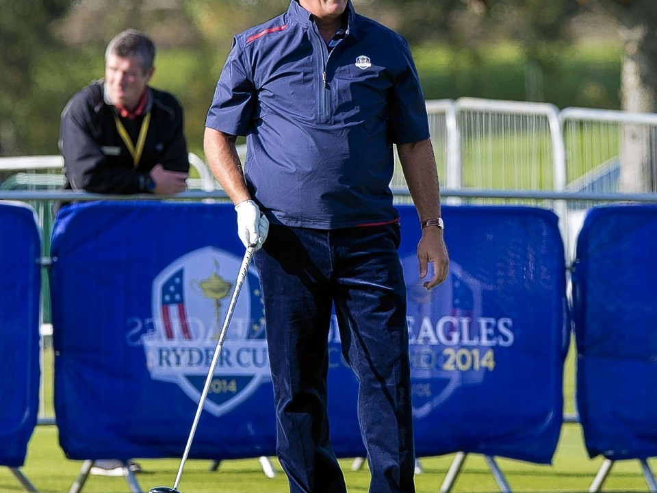 Phil Mickelson may be a Ryder Cup veteran but has been out practising today