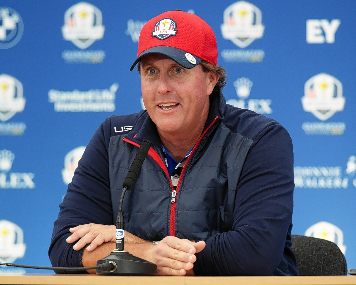Phil Mickelson was on the wind up during his press conference yesterday