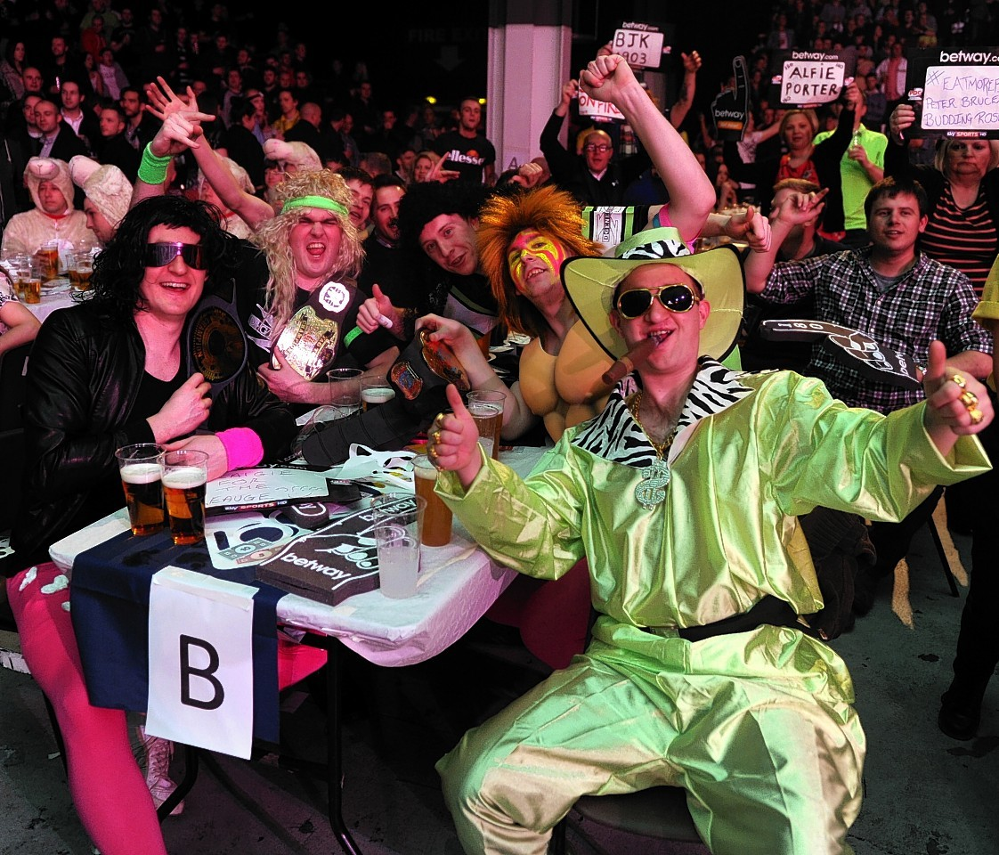 The darts certainly proved popular with the Aberdeen crowd in April