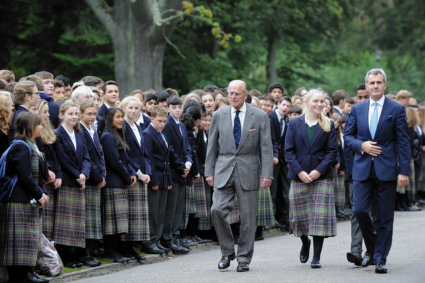 Prince Philip at Gordonstoun