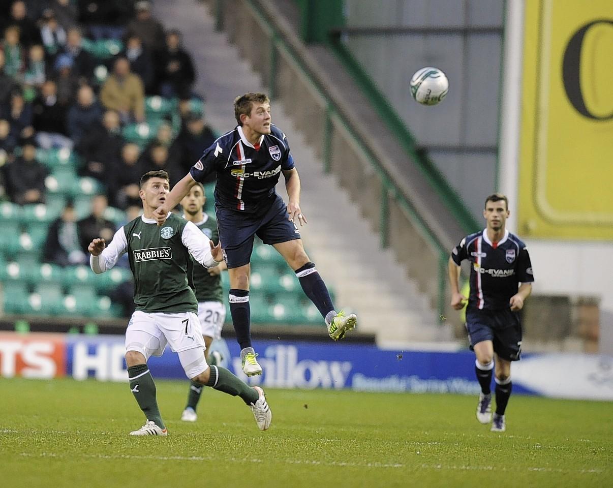 Richard Brittain has enjoyed a good run against Hibernian, netting three goals