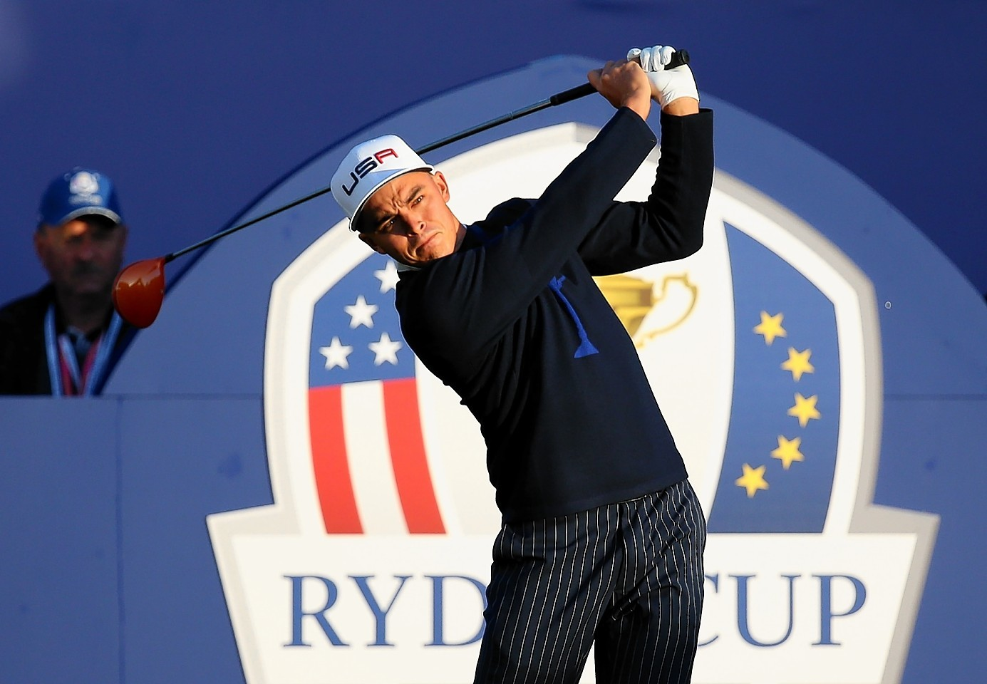 Rickie Fowler, representing USA  at the Ryder Cup, has hinted he is to return to Scotland