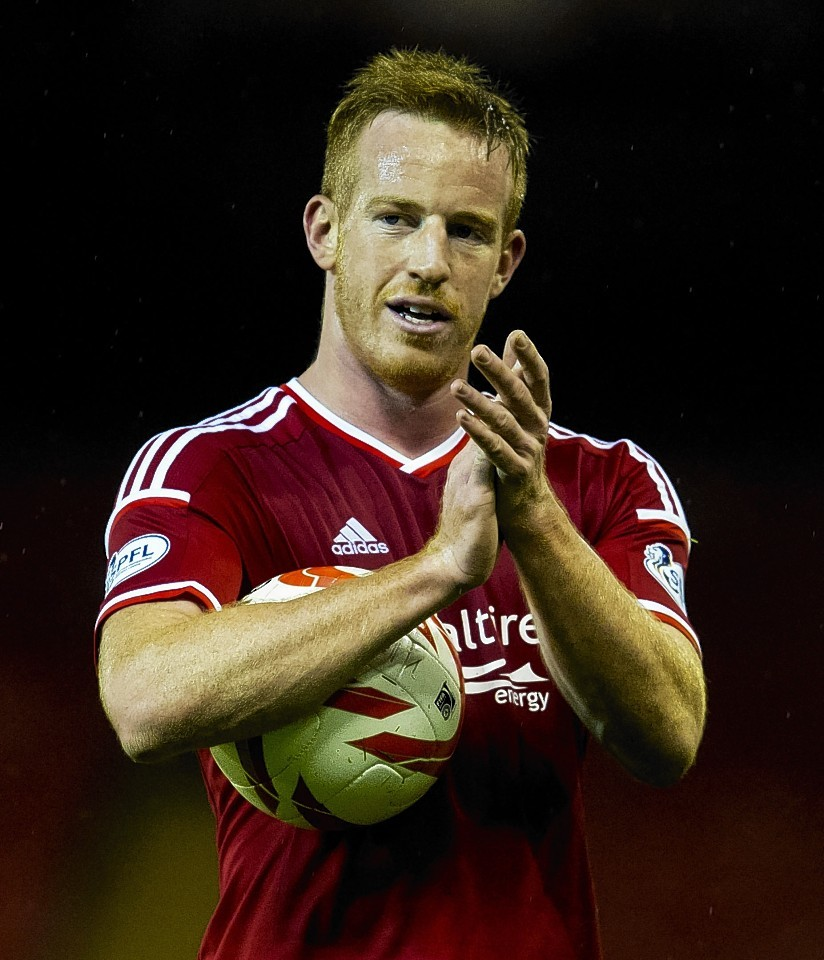 Rooney collected the match ball at Pittodrie last night