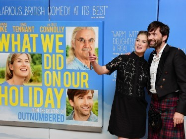 Rosamund Pike and David Tennant at the premiere of What We Did On Our Holiday