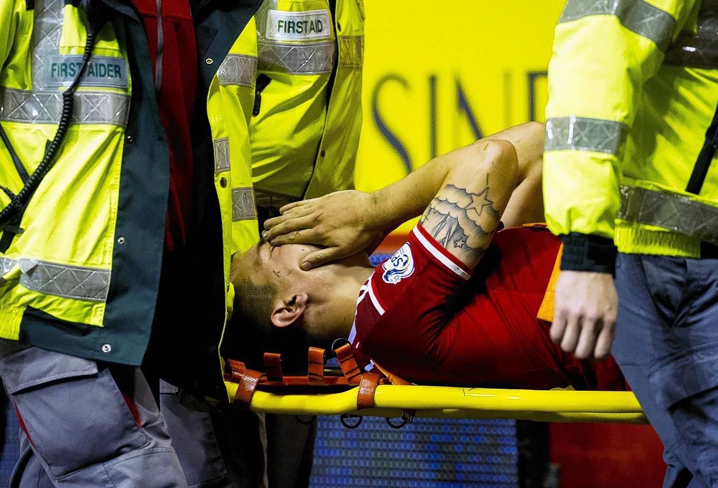 Ryan Jack was stretchered off during Tuesday night's win over Livingston