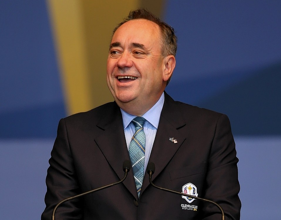 Alex Salmond welcomed the crowds to the 'greatest golf tournament in the world'