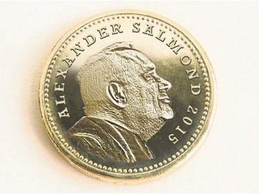 This pound coin was just one of a number of Independence April fools