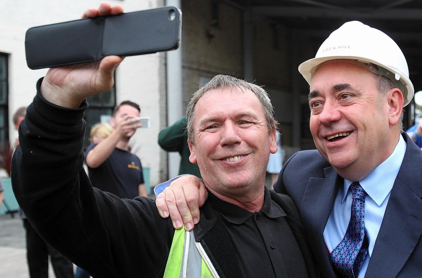 Alex Salmond selfie