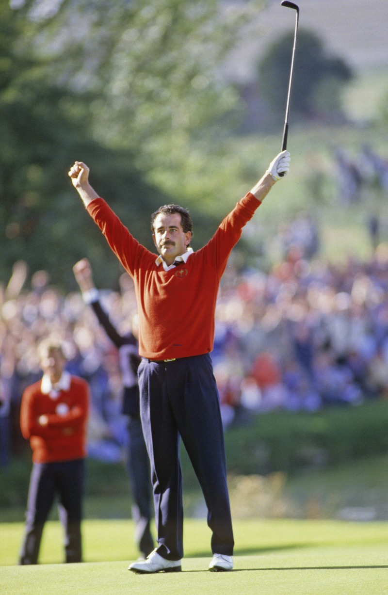 Sam Torrance secured America's defeat in the 1985 Ryder Cup, their first loss since 1957, setting the scene for European dominance over the following years.
