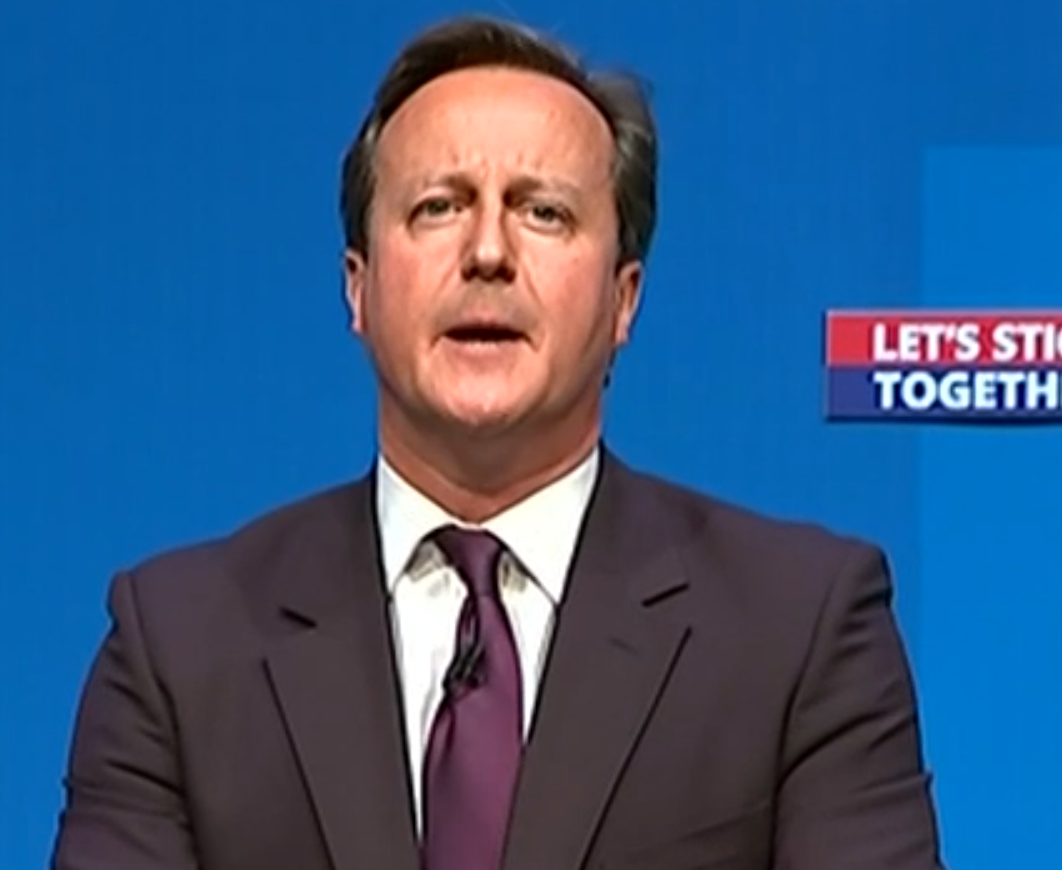 David Cameron on his most recent visit to Aberdeen
