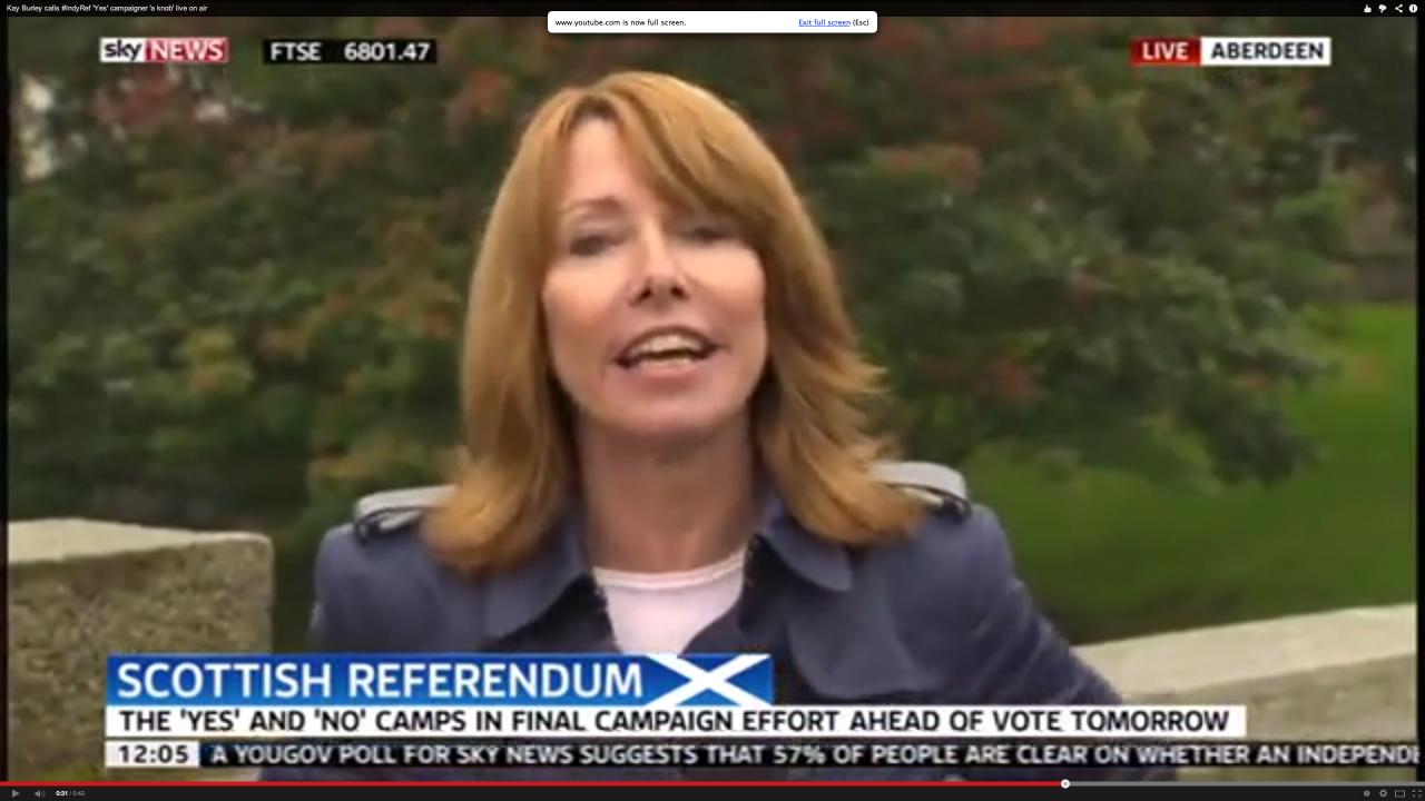 Kay Burley of Sky News
