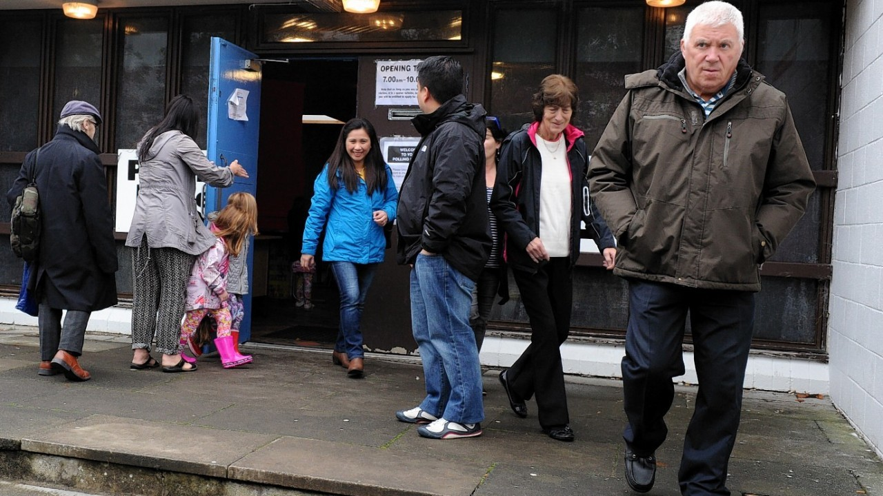 Sheddocksley Community Centre in Aberdeen has been visited by voters of all ages