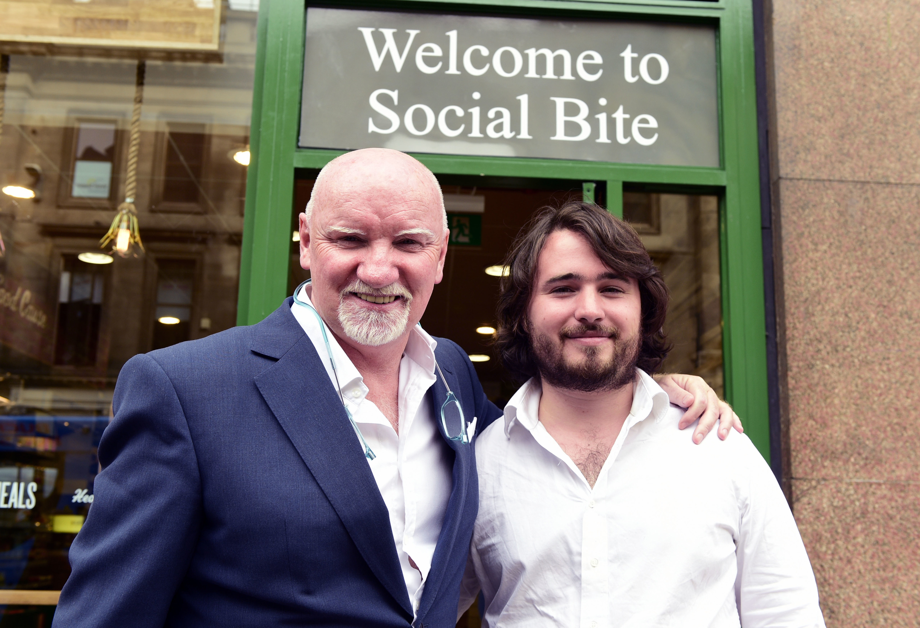 HUNGRY FOR CHANGE: Sir Tom Hunter invested £200,000 into Josh's chain of sandwich shops.
