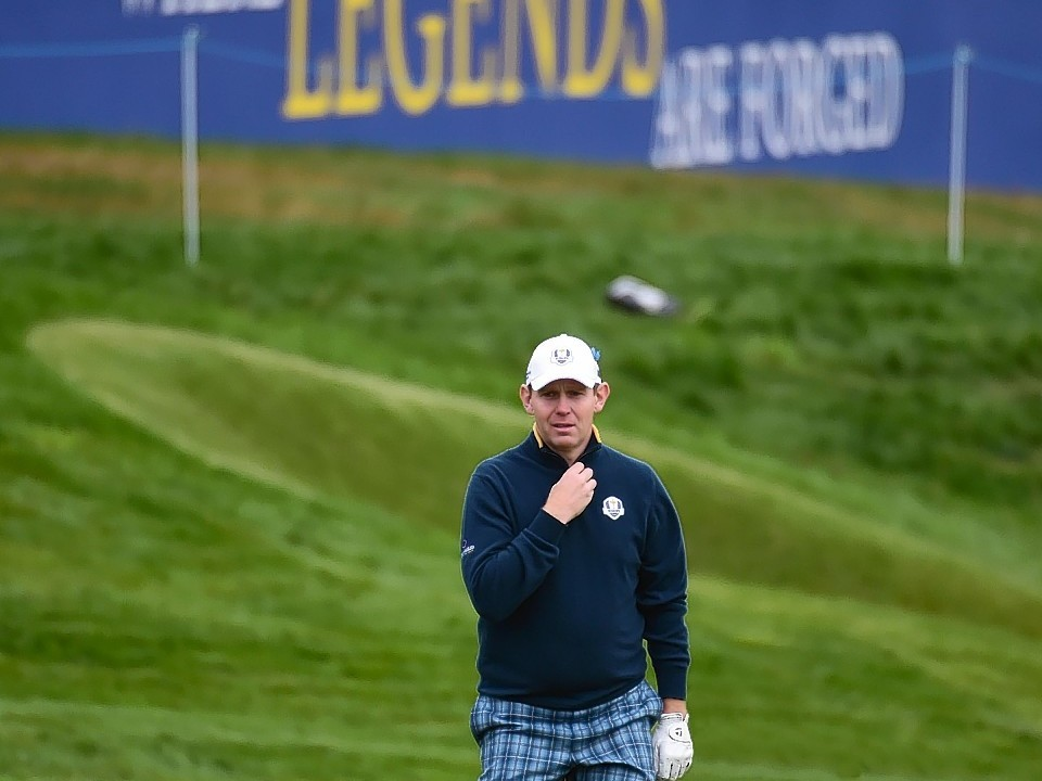 It was a serious day for the wild card as he focused on mastering the course