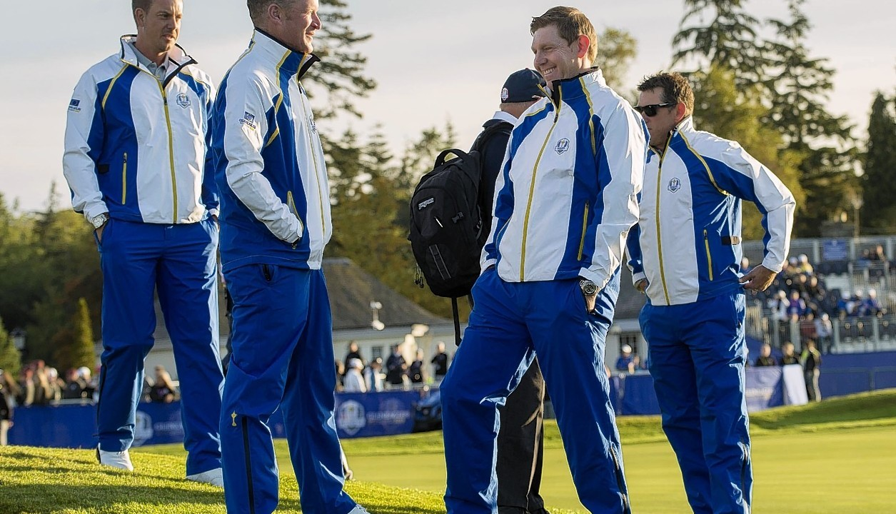 But he found time for a laugh with fellow rookie Jamie Donaldson