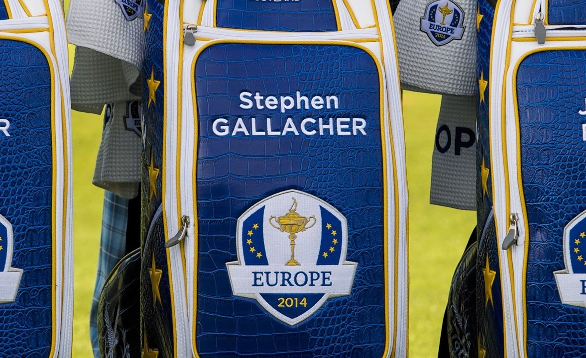 Gallacher was even awarded a new Team Europe bag with his name on it