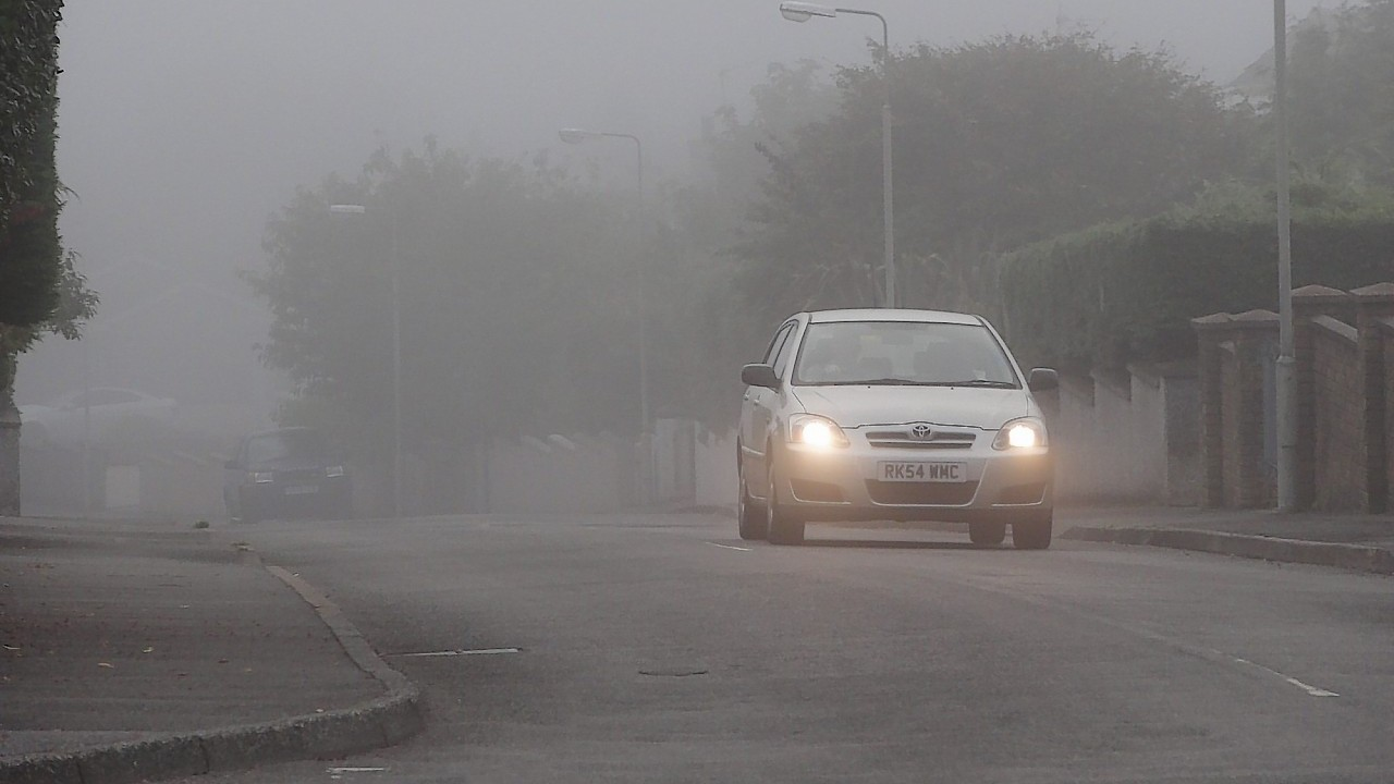 """Fog causing """"hazardous"""" driving conditions in north-east"""