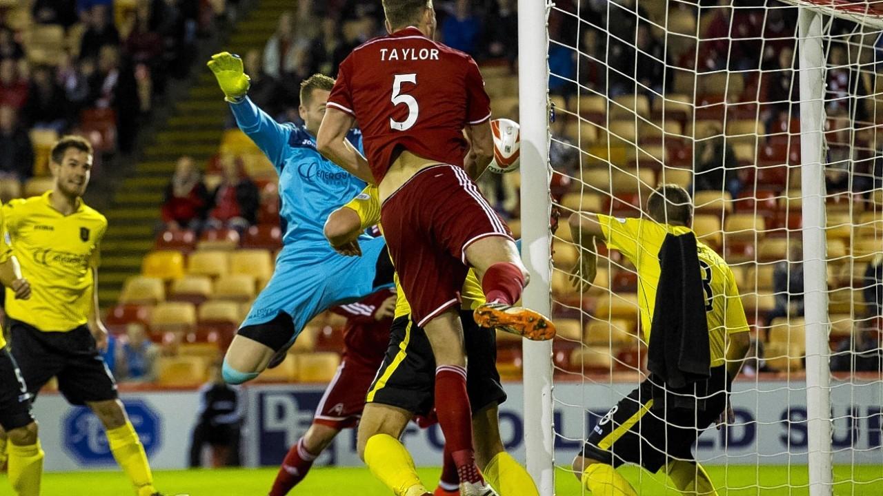 Ash Taylor put Aberdeen 1-0 ahead