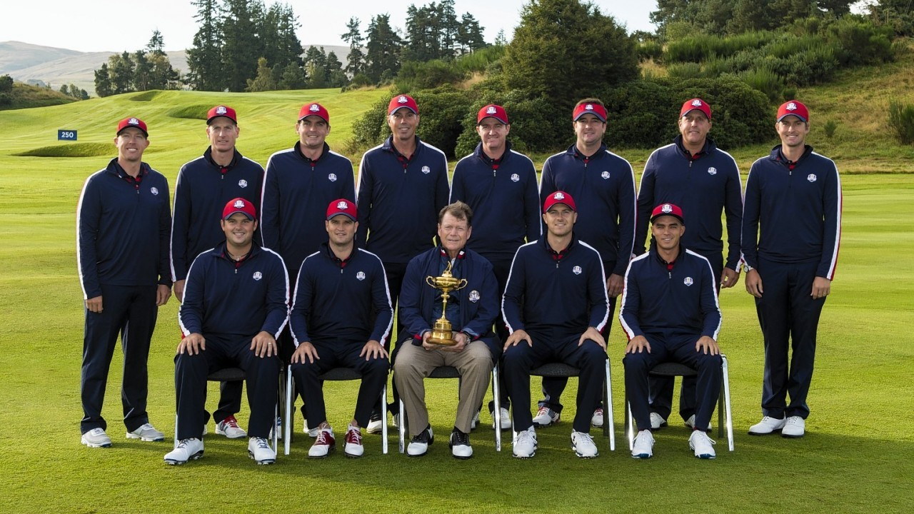 Team USA arrive in Scotland looking to reclaim the Ryder Cup which Team Europe won in 2012