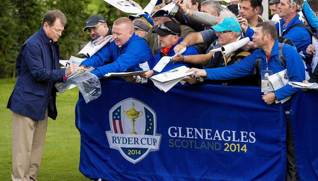 But captain Watson is already proving popular with the Gleneagles crowds