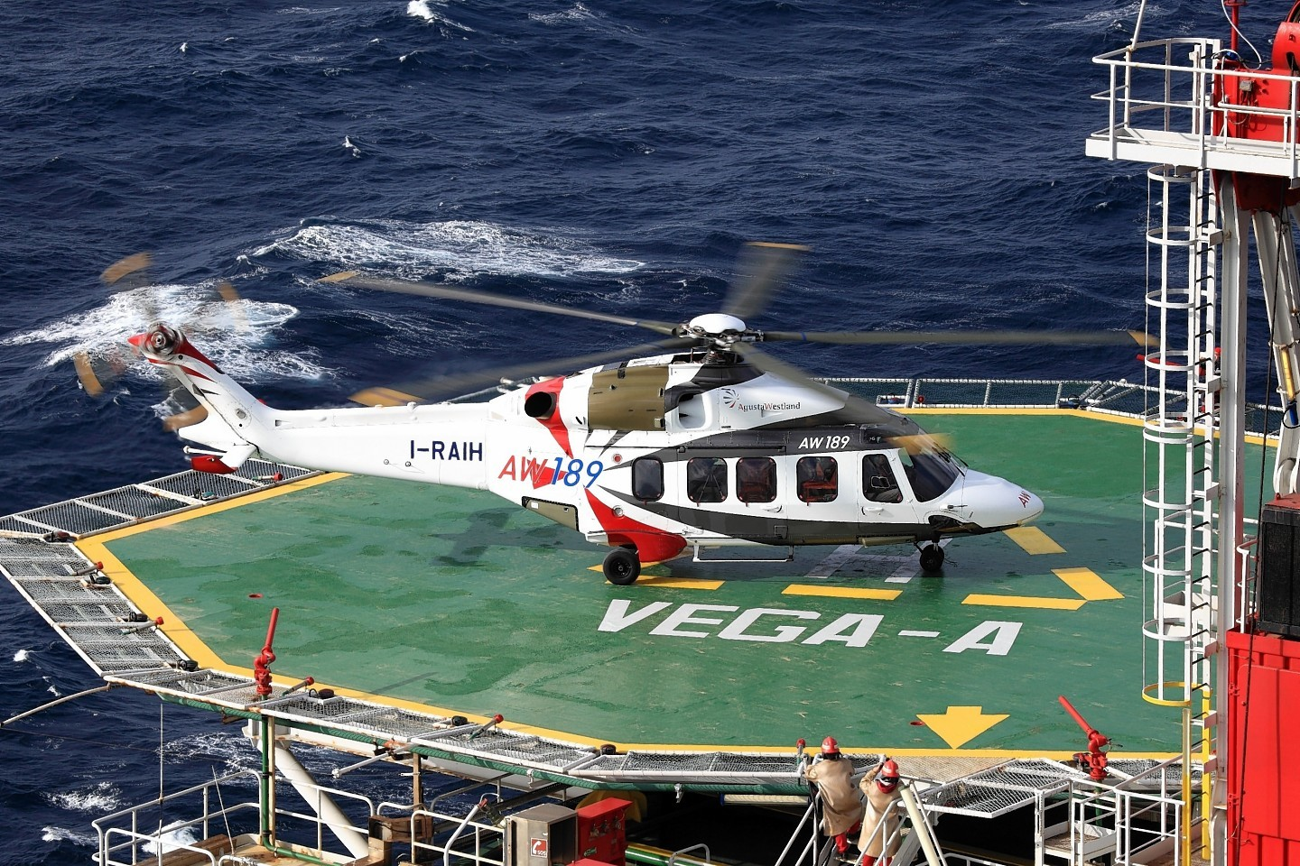 One of AugustaWestland's new AW189 helicopters