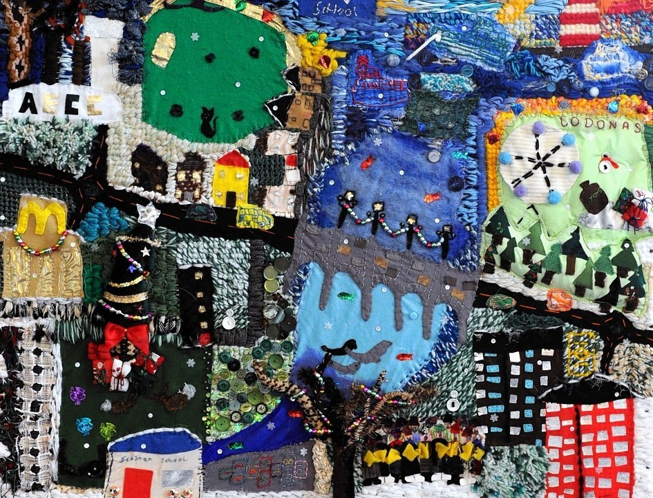 The Commonwealth Tapestry which is on display at Queen's Cross Church, Albyn Place, Aberdeen