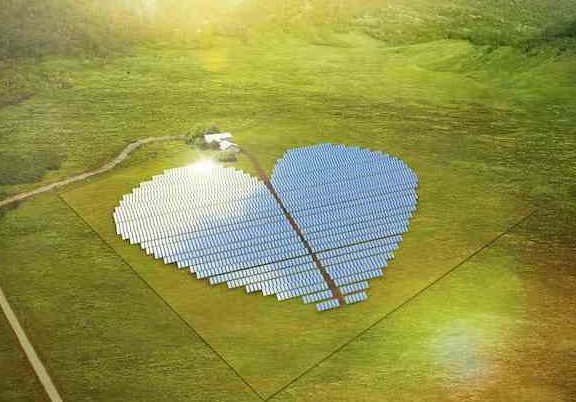 An artist's impression of the solar plant