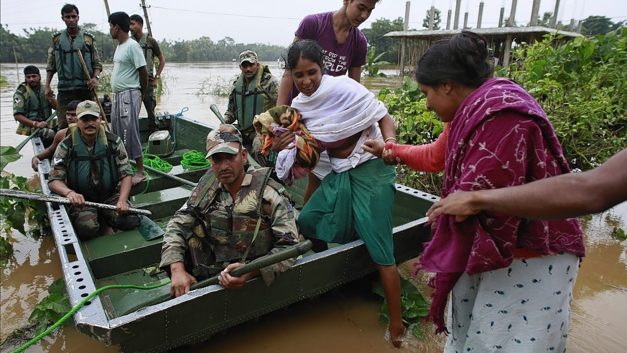 Recent flooding in India