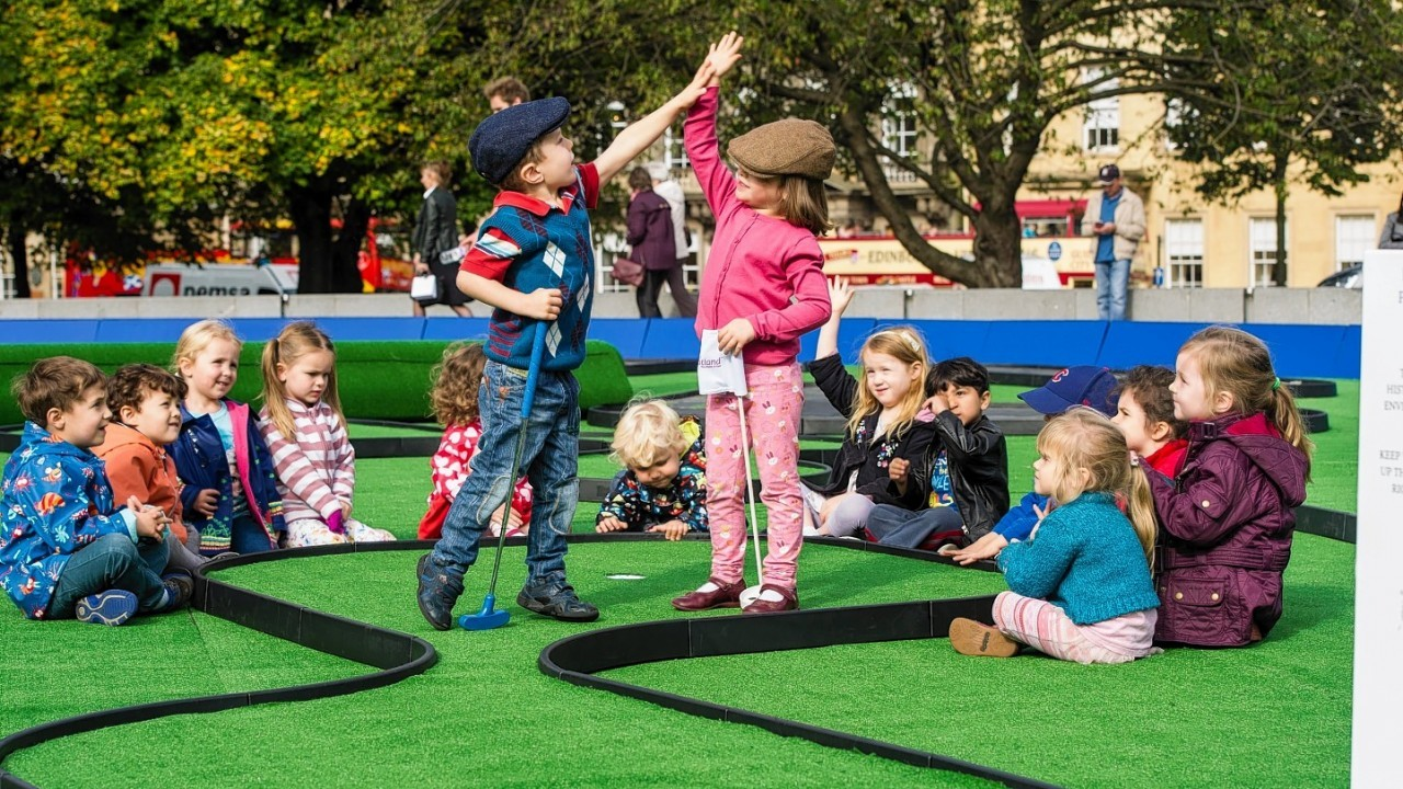 Children enjoy the Ryder Cup