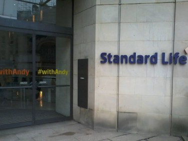 Standard Life's Edinburgh office is #withAndy