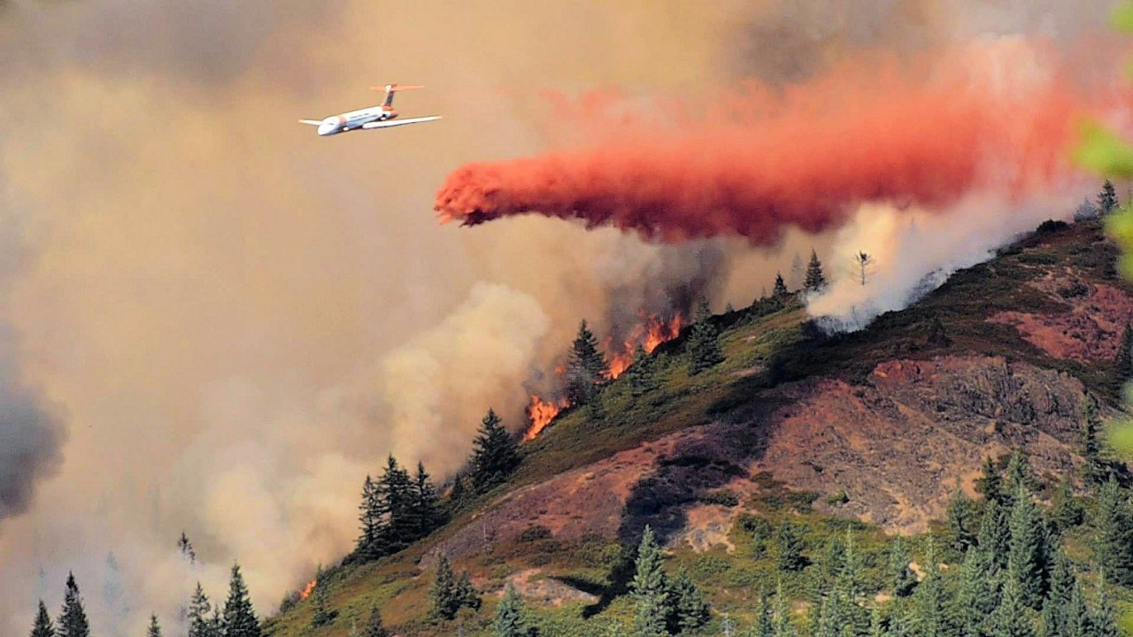 Two wildfires have broken out in the US over the past few days