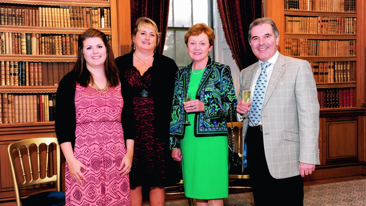 Kirsty Henderson-Young and Alice Dennis with Elizabeth and Gregor Mitchell