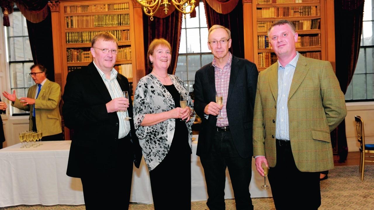 Paul Johnston, Terry Allington-Warne, David Dryer and Muick Wood