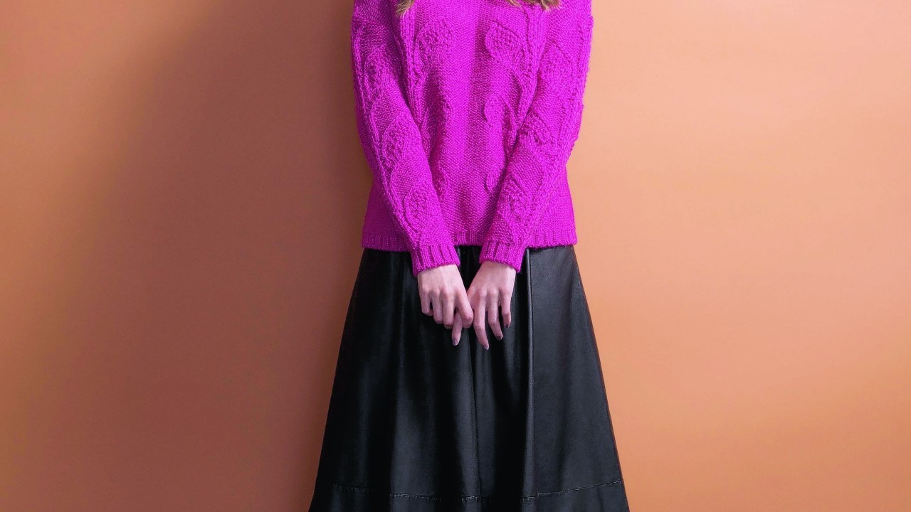 Tu at Sainsbury's Core 10th Anniversary Collection. Roll neck jumper, £22; leather look midi skirt, £22; ankle boots, £25
