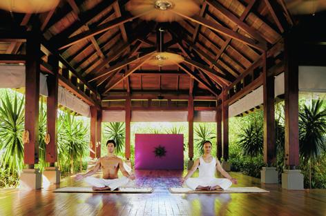 Yoga at Nira Spa Shanti Maurice Resort in Mauritius