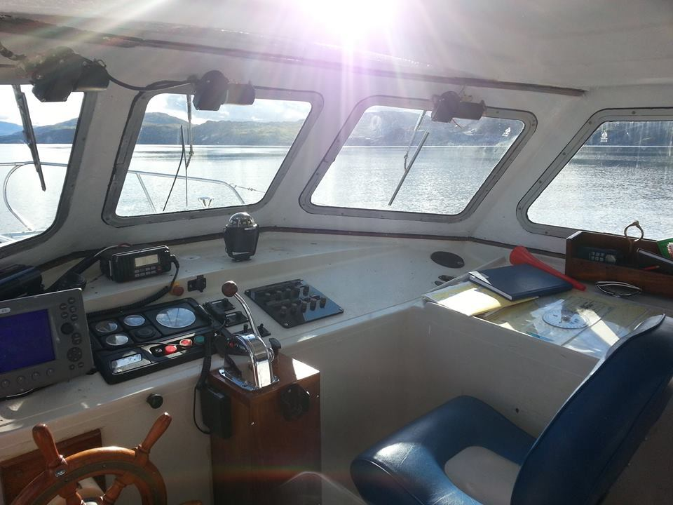 Inside the boat that came to the bride's aid