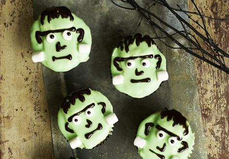 Tasty Frankenstein cupcakes
