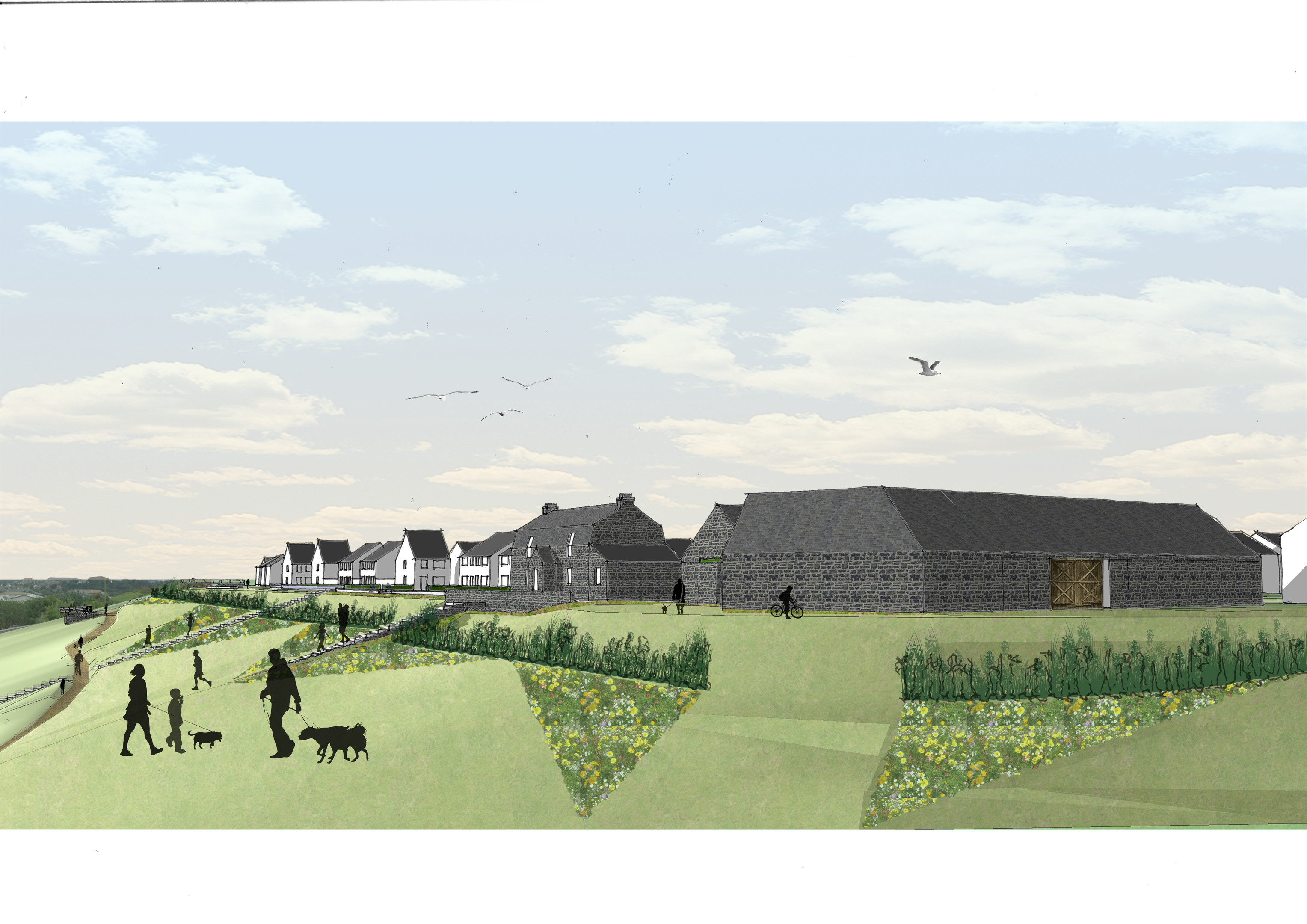An artist's impressions of the original plans by Stewart Milne Homes at Mains of Cowie, Stonehaven