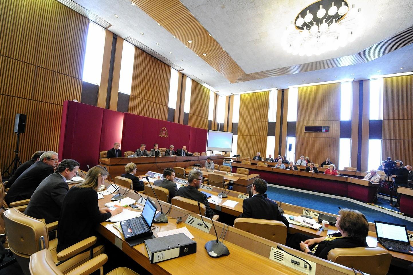 Aberdeen City Council chambers