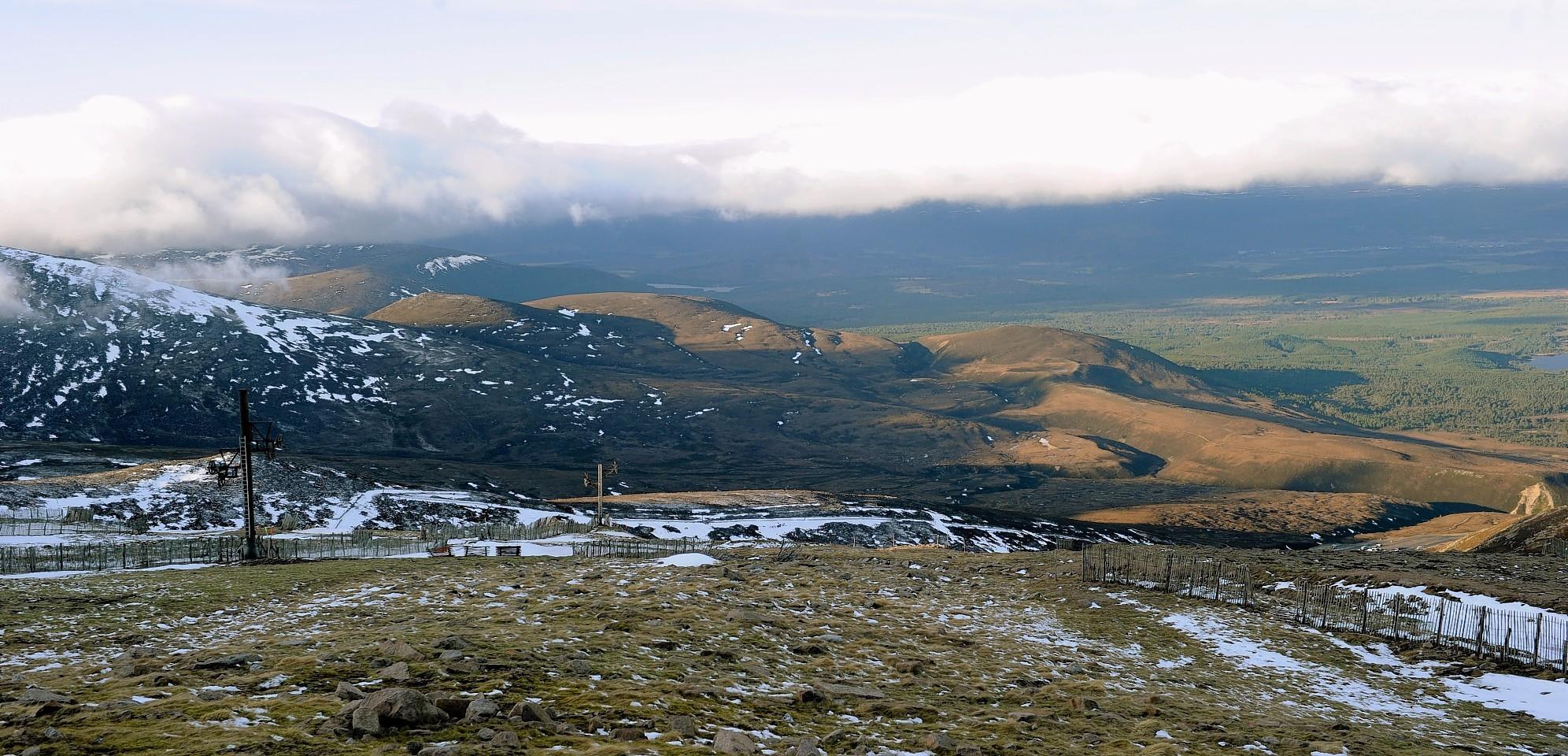 The site of the Allt Duine windfarm